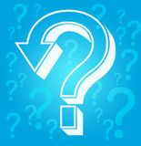 Question marks. Illustration of question marks in blue background vector illustration