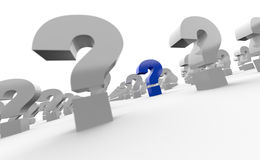 Question marks background Stock Photography