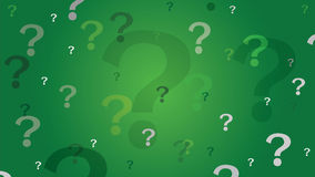 Question marks background - green Stock Photo