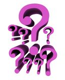 Question marks backround Royalty Free Stock Photography