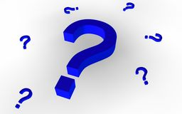 Question Marks (Blue) Stock Photography