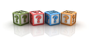 Question Marks Cubes Royalty Free Stock Photography