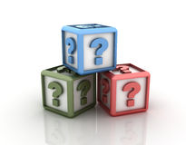 Question Marks Cubes Royalty Free Stock Photo