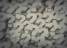 Question marks 3d background Royalty Free Illustration