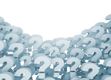 Question marks 3d background Stock Photos