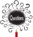 Question Marks Designs Illustration Stock Image