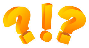Question marks and exclamation signs Stock Image