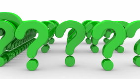 Question marks formed the word  Royalty Free Stock Images