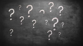 Question marks. On grey screen stock footage