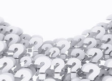 Question marks. Group of question marks with copy space area Stock Photography