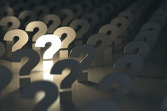 Question marks. Idea or problem concept. Royalty Free Stock Photo