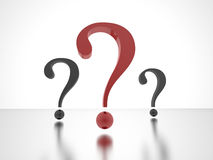 Question marks one red Stock Image