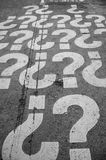 Question Marks - Outdoor - Vertical Photo Stock Photo