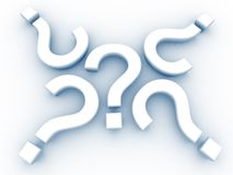 Question Marks Pattern. 3D question mark maze pattern Stock Photo