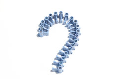 Question marks ranged from Cork colors look beautiful. Stock Images