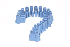 Question marks ranged from Cork colors look beautiful. Stock Photography
