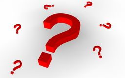 Question Marks (Red) Royalty Free Stock Image