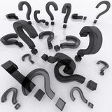 Question marks with reflection Royalty Free Stock Photography