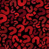 Question marks seamless pattern, vector, hand drawn Stock Image