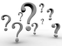 Question Marks Sign Flying Royalty Free Stock Images