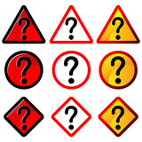 Question marks sign Royalty Free Stock Images