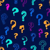 Question Marks Signs Seamless Pattern Background. Vector vector illustration
