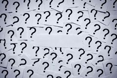 Question Marks without Theme Royalty Free Stock Image