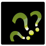 Question marks. Three colored question marks in black background Royalty Free Stock Photos