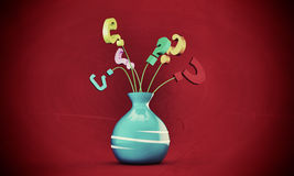 Question marks in a vase Royalty Free Stock Photos