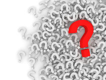 Question Marks on white background Royalty Free Stock Image