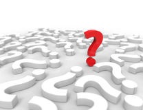 Question Marks on white background Royalty Free Stock Images