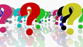 Question marks on white Royalty Free Stock Photography