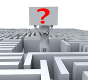 Question In Maze Shows Confusion Royalty Free Stock Photo