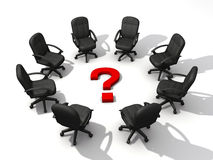 Question meeting Stock Images