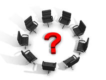 Question meeting Royalty Free Stock Images