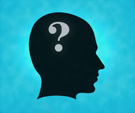 Question in mind Royalty Free Stock Photo