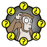 Question monkey Stock Images