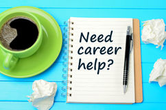 Question Need career help on notebook Royalty Free Stock Photos