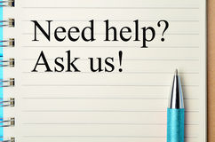 Question Need help on notepad. Closeup Royalty Free Stock Image