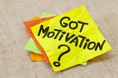 Question obtenue de motivation Images stock