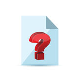 question over a document illustration Stock Photos