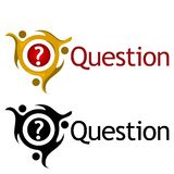 Question with people icon. Flat vector illustration on white background. EPS file available. see more images related vector illustration