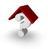 Question point with rooftop Royalty Free Stock Images