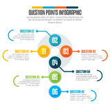 Question Points Infographic Stock Photo