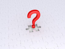 Question pour accomplir le puzzle Photo stock