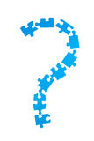 Question puzzle. Group of puzzles forming question mark (concept of problem Royalty Free Stock Photo
