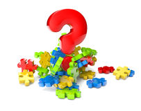 Question puzzle Royalty Free Stock Images