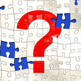 Question puzzle. Illustration of a question mark on a jigsaw puzzle vector illustration