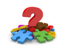 Question with puzzles Royalty Free Stock Photo