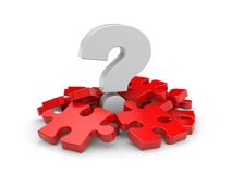 Question with puzzles Royalty Free Stock Image